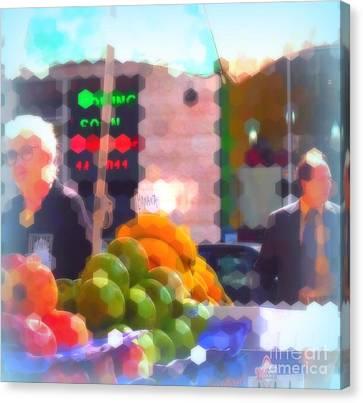 Canvas Print featuring the photograph Banana - Street Vendors Of New York City by Miriam Danar