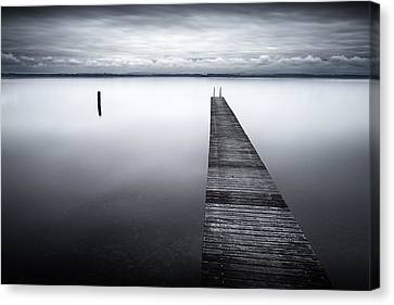 Banana Pier Canvas Print by Dominique Dubied