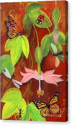 Canvas Print featuring the painting Bananapoka by Anna Skaradzinska