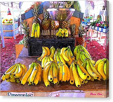 Bananas And Pineapples Canvas Print by Buzz  Coe