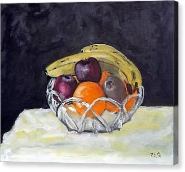 Banana's Canvas Print by Peter Edward Green