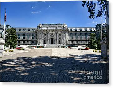 Bancroft Hall Canvas Print by Olivier Le Queinec