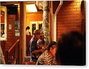 Band At Palaad Tawanron Restaurant - Chiang Mai Thailand - 01135 Canvas Print by DC Photographer