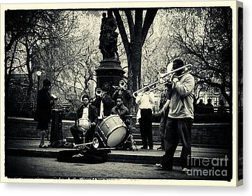 Band On Union Square New York City Canvas Print by Sabine Jacobs