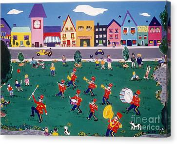 Canvas Print featuring the painting Band Practice by Joyce Gebauer