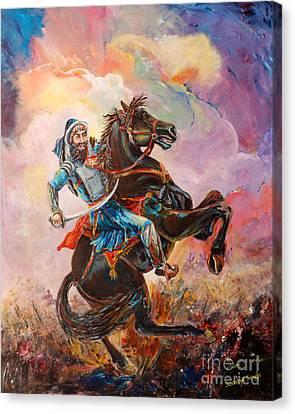 Sikh Art Canvas Print - Banda Singh Bahadur by Sarabjit Singh
