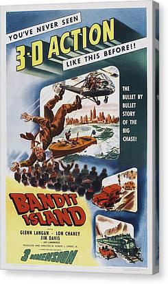 Bandit Island, Poster Art, 1953 Canvas Print