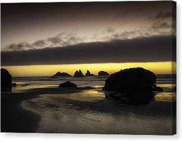 Bandon By The Sea Canvas Print by Jean-Jacques Thebault