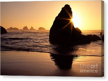 Bandon Golden Moment Canvas Print by Inge Johnsson