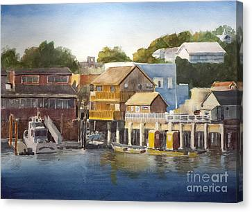 Prowler Canvas Print - Bandon Harbor - Oregon by Anthony Coulson