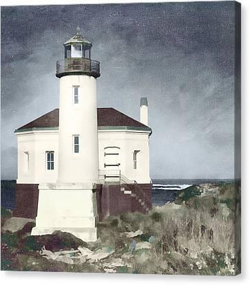 Bandon Lighthouse Canvas Print by Carol Leigh