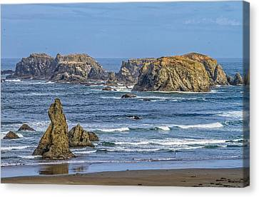 Canvas Print featuring the tapestry - textile Bandon Beach Landscape by Dennis Bucklin