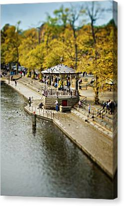 Canvas Print featuring the photograph Bandstand In Chester by Meirion Matthias