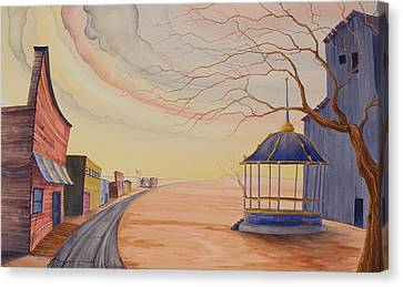 Canvas Print featuring the painting Bandstand by Scott Kirby