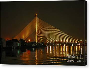 Bangkok By Night Canvas Print