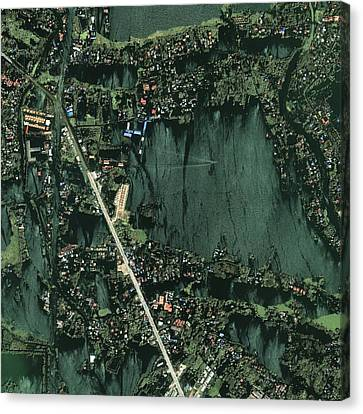 Bangkok Flooding 2011, Satellite Image Canvas Print by Science Photo Library