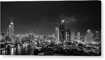 Bangkok Lightning Canvas Print by Stefan Schilbe