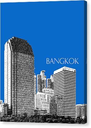 Bangkok Thailand Skyline 2 - Blue Canvas Print by DB Artist