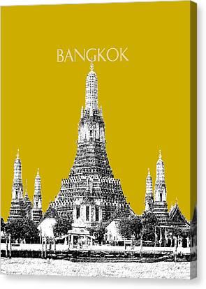 Bangkok Thailand Skyline Wat Arun - Gold Canvas Print