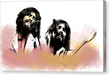Guitarist George Harrison Canvas Print - Bangladesh  George Harrison by Iconic Images Art Gallery David Pucciarelli