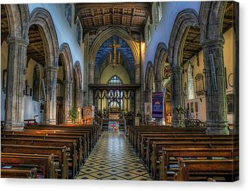 Bangor Cathedral V2 Canvas Print by Ian Mitchell