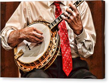 Banjo In Arms Canvas Print by Linda Phelps