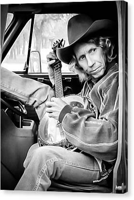 Banjo Man Canvas Print by Darryl Dalton