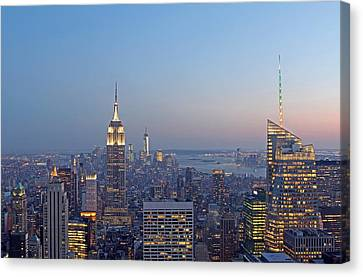 Bank Of America And Empire State Building Canvas Print by Juergen Roth