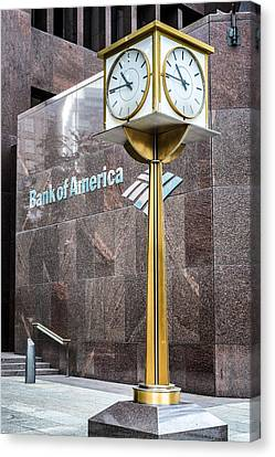Bank Of American Building In Boston Canvas Print by Boris Mordukhayev