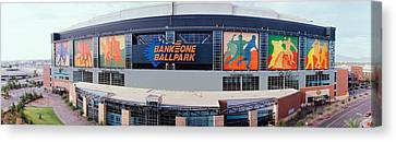 Bank One Ballpark Phoenix Az Canvas Print by Panoramic Images
