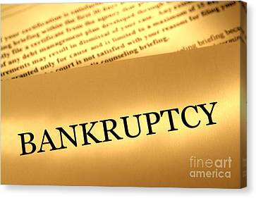 File Canvas Print - Bankruptcy Notice by Olivier Le Queinec