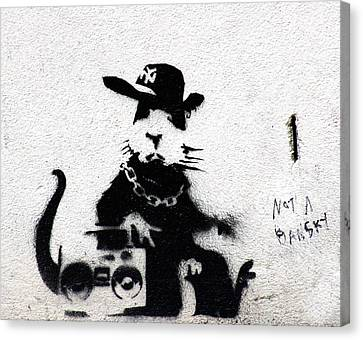 Banksy Boombox  Canvas Print by A Rey