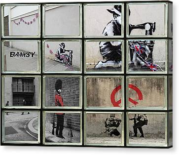 Banksy Street Art Canvas Print