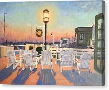 Bannister's Wharf Newport Ri Canvas Print