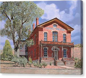 Bannock-montana-hotel Meade Canvas Print by Guido Borelli