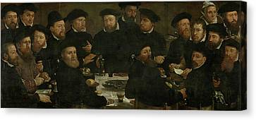 Banquet Of 18 Guardsmen Of Squad L, Amsterdam 1566 Perch Canvas Print