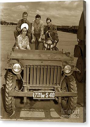 Bantam Jeep 17th Infantry Fort Ord Army Base 1950 Canvas Print by California Views Mr Pat Hathaway Archives