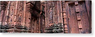 Bantreay Srei Nr Siem Reap Cambodia Canvas Print by Panoramic Images