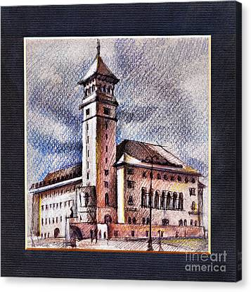 Banu Manta City Hall Of Bucharest Canvas Print
