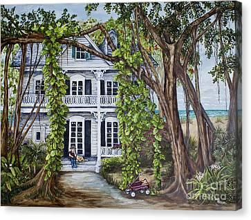 Banyan Beach House Canvas Print