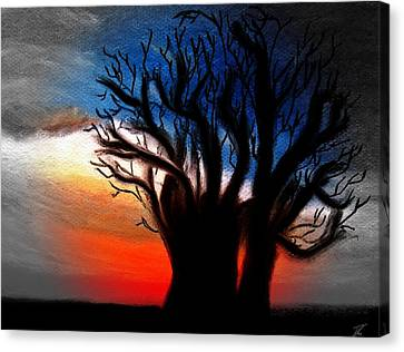 Baobab Tree 2 Canvas Print by Ayasha Loya