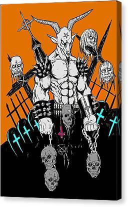 Horror Fantasy Movies Canvas Print - Baphomet by Alaric Barca