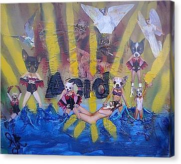 Canvas Print featuring the painting Baptism In Acid by Lisa Piper