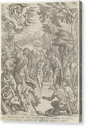 Baptism Of Christ, Egidius Horbeck Canvas Print