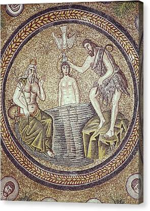 Baptism Of Christ. End 5th C. Italy Canvas Print by Everett