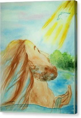 Baptism Of Christ Canvas Print by Melanie Palmer