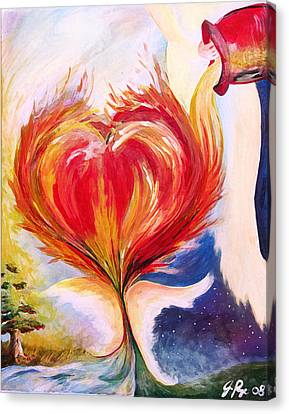 Baptize Me With Holy Fire Canvas Print