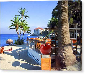 Bar At Descanso Beach Canvas Print by Snake Jagger