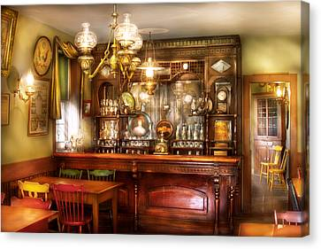 Bar - Bar And Tavern Canvas Print by Mike Savad