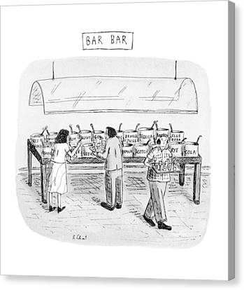 Bar Bar Canvas Print
